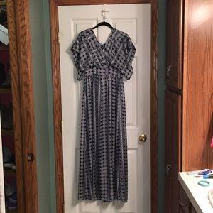 Charming Charlie Navy Blue Maxi Dress